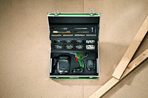Bosch DIY Akku-Bohrschrauber PSR 14,4 LI Toolbox, 2 Akku, Ladegerät, 241 tlg. Zubehör-Set, Toolbox, Karton (14,4 V, 1,5 Ah, max. Bohr-Ø: Holz: 20 mm, Stahl: 6 mm) - 2