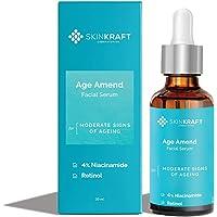 SkinKraft Customized Anti Aging Facial Serum - Niacinamide & Retinol Face Serum For All Skin Types - Rich in…