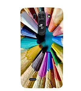Printvisa Multicolour Pencil Pattern Back Case Cover for LG G3 Beat::LG G3 Vigor::LG G3s (Dual)