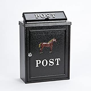 Black Post Box Horse