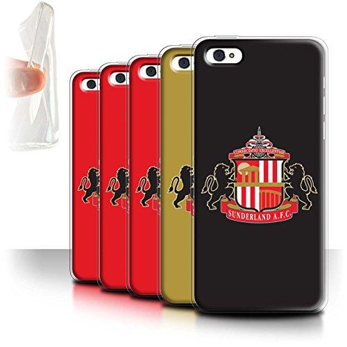 Offiziell Sunderland AFC Hülle / Gel TPU Case für Apple iPhone 5C / Pack 6pcs Muster / SAFC Fußball Crest Kollektion Pack 6pcs