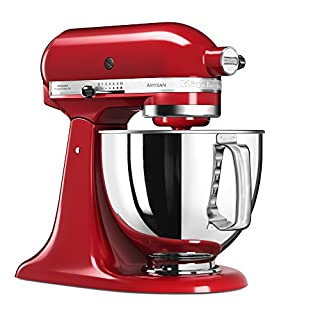 KitchenAid Artisan Food Processor with 5KSM125EER Basic Equipment, Empire Red