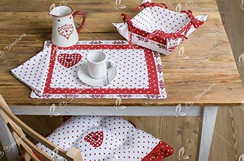 Set 2 tovagliette americane colazione + tovaglioli Avignon Tirolse Country chic- 100% cotone Made in Italy