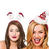 Natale insieme Padiglione auricolare adulti rosso Spiral Babbo Natale cappello cerchietto e Babbo Natale testa Bopper Padiglione auricolare X Pack 2