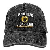 uykjuykj Baseball Caps Hats I Make Beer Disappear Cotton Cowboy Cap Trucker Cap Forman and Woman Adjustable Unique Personality Cap
