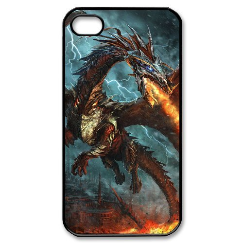 LP-LG Phone Case Of Red Dragon For Iphone 4/4s [Pattern-6] Pattern-2