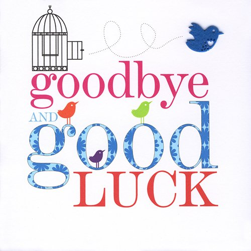 Claire Giles Sherbet Sundaes Goodbye and Good Luck Card