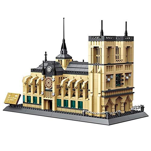 Sponsi Notre Dame de Paris Frankreich, 1380PCS 3D Notre Dame Kathedrale Architektur Modellbausätze DIY Puzzle, Kinder Montiert Baustein Spielzeug