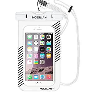 Custodia Impermeabile MOSSLIAN Waterproof Case per iPhone 7, 7 Plus, 6s, 6s Plus, SE, 6, 6 Plus, Samsung S7, S7 edge, S6, S6 edge, S5 ed altri Cellulari di Apple & Android Meno di 6 Pollici