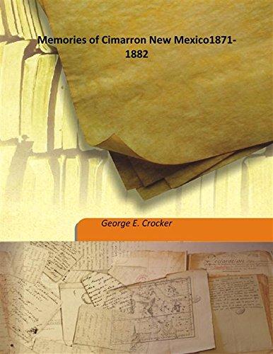 New Mexico 1871-1882 1871-1882 [Hardcover] ()