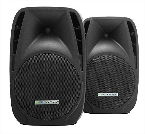2x Pronomic PH12 Bühnen- und Konzertlautsprecher PA-Lautsprecher (passive ABS PA-Boxen, 12 Zoll, 30 cm, 600W) schwarz