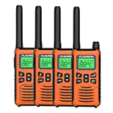 FLOUREON 4X PMR Funkgeräte Set 16 Kanäle Walkie Talkies 2-Wege Radio Walki Talki Funkhandy Interphone mit LC-Display 5KM