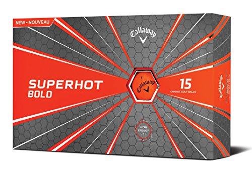 Callaway Superhot Bold Balles de golf Lot de 15 Orange