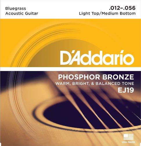 D'Addario EJ19 Phosphor Bronze Satz E-Gitarren-Saiten 012' - 056'