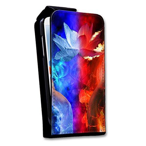 Flip Style Vertikal Handy Tasche Case Schutz Hülle Schale Motiv Foto Etui für Apple iPhone 4 / 4S - Flip V18 Design4 Design 6