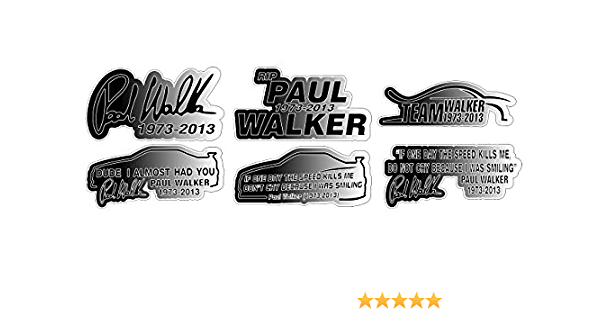 Paul Walker Tribute Set Rip 1973 2013 Aufkleber Sticker Gratis Schlüsselringanhänger Aus Kokosnuss Schale Auto Motorrad Laptop Tuning Racing Motorsport Hoonigan Always Evolving Fast And Furious Auto