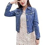 Chaqueta Para Mujer Chaqueta Vaquera Chaqueta Mezclilla Denim Jacket Manga Larga azul M