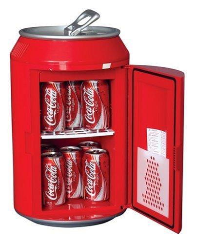 Coca-Cola CC12Kühlschrank Elektrische Unisex Erwachsene, Rot