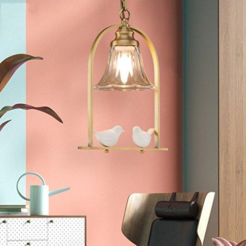 Pendelleuchten Einfache Garten Kupfer Single Head Kronleuchter Personalisierte Wohnzimmer Studie Ess Gang Lampen (Ess-paket)