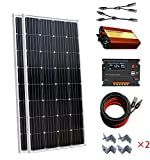 300W 2x 150W off-gird Solar Panel Kit/20A CMG Akku aufladen Controller & 1000W dc12V-ac220V Inverter für RV Boot Wohnmobil Netzteil