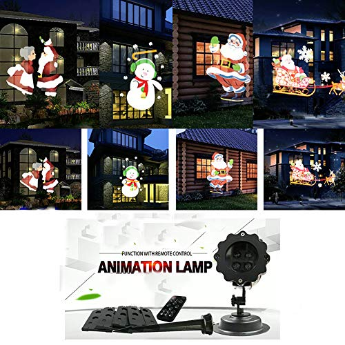 Weihnachten Halloween Geschenke LED Schneefall Projektor Snowflake Lichter Wasserdichte Scheinwerfer Animation Magic 4 PCS Schaltbare Muster Animeshiny Holiday Party Dekoration Family Garden Court Pool