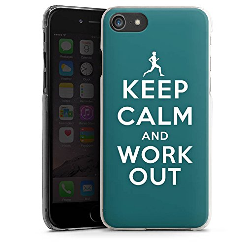 Apple iPhone X Silikon Hülle Case Schutzhülle Keep Calm Workout Spruch Hard Case transparent