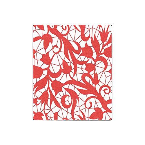 Mesllings Fleecedecke, Vintage-Blumenmuster, warm, für den Winter, 127 x 152 cm Vintage-olive Wood