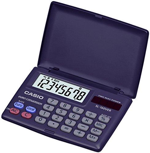 Preisvergleich Produktbild Casio sl-160ver-sa-eh–Basic Taschenrechner, 10x 87x 58mm gefaltet und 8x 87x 117,5mm eingesetzt, navy blau