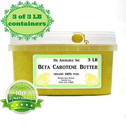 Beta Carotene Butter Cold Pressed Pure & Organic 9 LB