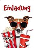 10 Kino-Einladungen (Set 1)/Geburtstagseinladungen Kinder Mädchen Jungen: 10-er Set lustige Kino-Einladungskarten für den nächsten Kindergeburtstag im Kino von EDITION COLIBRI © (10700)