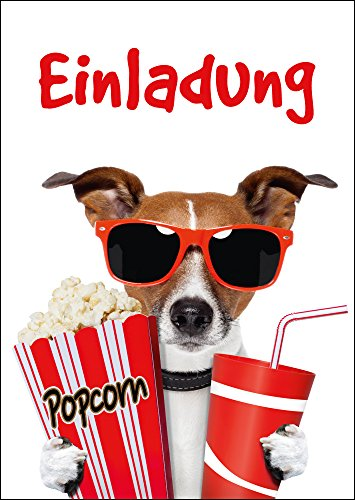 Preisvergleich Produktbild Kino-Einladungen (Set 1): 10-er Set lustige Kino-Einladungskarten für den nächsten Kindergeburtstag im Kino von EDITION COLIBRI © (10700)