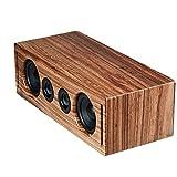 RÖTH & MYERS BOSK Speaker HiFi - Altavoz Wifi / Bluetooth. Altavoz de estantería. Diseño Único en Madera de Zebrano 100% Natural, Multiroom y Multichannel. Spotify, Airplay, DLNA, Óptica, 70W