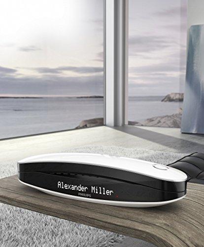 Philips M6651WB Luceo schnurloses Telefon mit Anrufbeantworter (4,6 cm (1,8 Zoll) Display, HQ-Sound) schwarz/weiß - 7