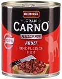 Animonda GranCarno 82744 Adult Rindfleisch pur 6 x 800 g Dose - Hundefutter