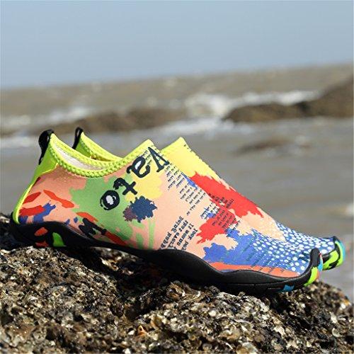 SAGUARO® Sommer Strand Badeschuhe Schlüpfen Schnell trocknend Schwimmen Aquaschuhe Mesh Slip on Wasserschuhe für Damen Herren Karte