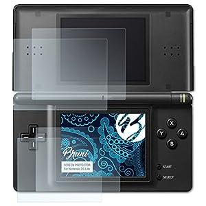 Bruni Schutzfolie kompatibel mit Nintendo DS-Lite Folie, glasklare Displayschutzfolie (2er Set)