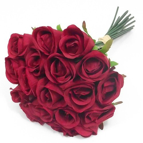 30cm-bunch-bundle-of-18-artificial-red-roses-weddings-homes-grave