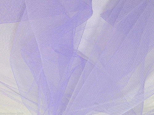 Lila Tüllstoff Kleid Stoff 140cm £ 1,24Meter -