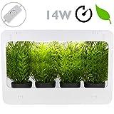 PrimeMatik - Pflanzen Wachstums Kit für den Innenbereich mit weissem LED Licht 850 lm 14W