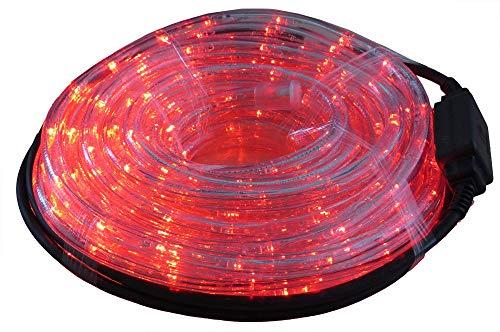 Tube lumineux 9 m à LED coloris rouge pour intérieur et extérieur