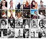 Autocollant (24pcs 60X90mm) DALIDA Affiches Photos Vintage Magazine covers French Pop Folk Music