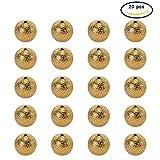 Messing Stardust Perlen Sterstaub Perlen Zwischenperlen, Goldene Farbe, Rund, 12 mm, Bohrung: 1.8 mm