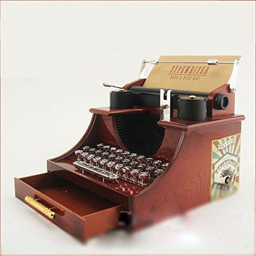 OOFYHOME Vintage Schreibmaschine Spieluhr für Zuhause / Büro / Arbeitszimmer / Hochzeit Dekoration-kreative Ornamente
