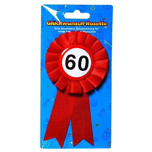 Preis am Stiel 1 x Geburtstags Anstecker 60 | 60. Geburtstag | Ansteckbutton