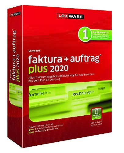 Lexware faktura+auftrag 2020|plus-Version Minibox (Jahreslizenz)|Einfache Auftrags- und Rechnungs-Software für alle Branchen|Kompatibel mit Windows 7 oder aktueller