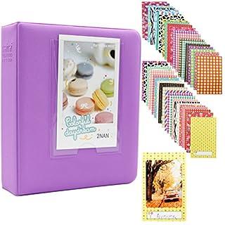 Albus Store 64 Taschen Mini Fotoalbum für Fujifilm Instax Mini 7s 8 8+ 9 25 26 50s 70 90 Sofortige Kamera & Namenskarte (Violett)