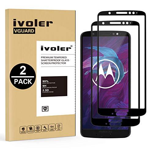 iVoler [2 Stücke] Panzerglas Schutzfolie für Motorola Moto G6 Plus, [Volle Bedeckung] Panzerglasfolie foliefolie Hartglas Gehärtetem Glas BildschirmPanzerglas