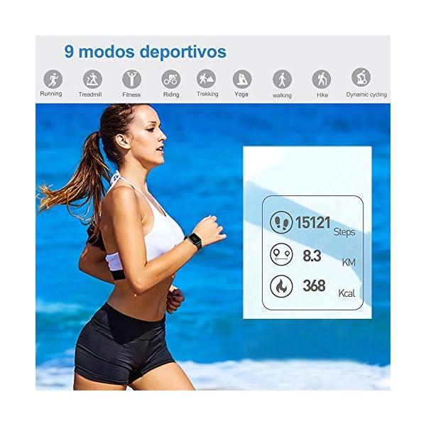 Willful Smartwatch,Reloj Inteligente con Pulsómetro,Cronómetros,Calorías,Monitor de Sueño,Podómetro Pulsera Actividad Inteligente Impermeable IP68 Smartwatch Hombre Reloj Deportivo para Android iOS 2