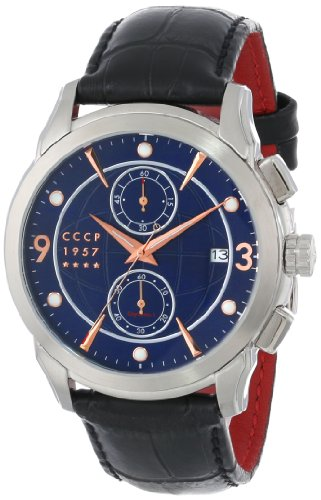CCCP Men's CP-7002-02 Sputnik 1 Limited Edition Analog Display Japanese Quartz Black Watch