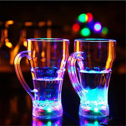 - 7 Farben leuchten blinkend, Barware Drink Cup für Hochzeit Whisky Party Club KTV Geburtstag, 2 Stück,B ()